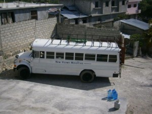 Bus Arriving at the Mission